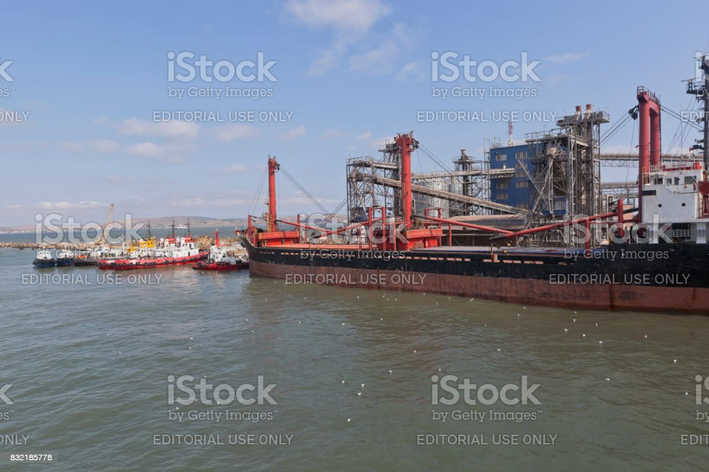 MF ROSE universal ship in the port of Caucasus stock photo