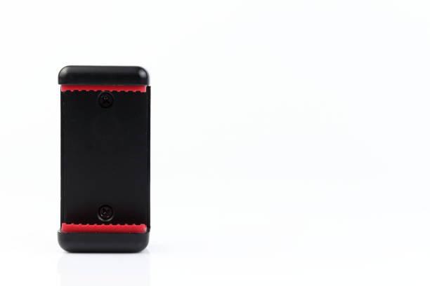 universalklemme smartphone. handy-halter. handy-klemme. isoliert auf weißem hintergrund. - auto trennwand stock-fotos und bilder