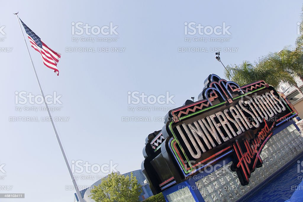 Universal Studios Hollywood Logo in Los Angeles stock photo