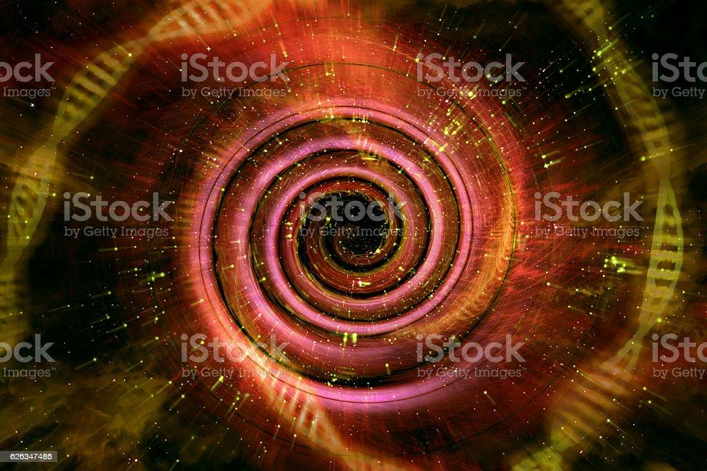 Universe Black Hole 3D Illustration stock photo
