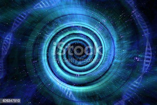 Universe black hole tunnel space background 3D Illustration