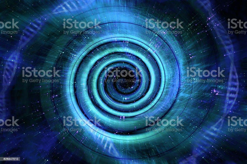 Universe Black Hole 3D Illustration bildbanksfoto