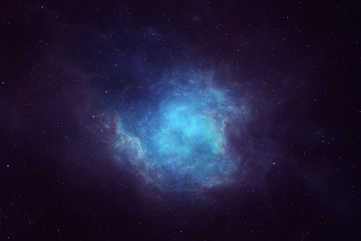 Night sky background image featuring nebula, galaxies and stars