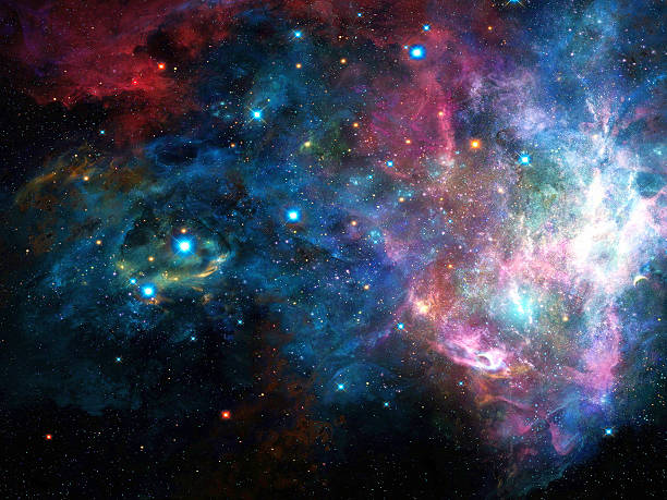 universe filled with stars, nebula and galaxy - space and astronomy stock photos and pictures