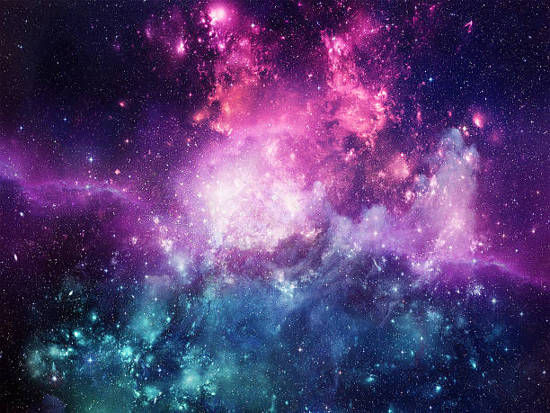 universe filled with stars, nebula and galaxy - outer space stock photos and pictures