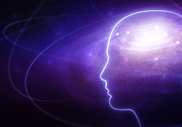 Universe in the Human Head stock photo