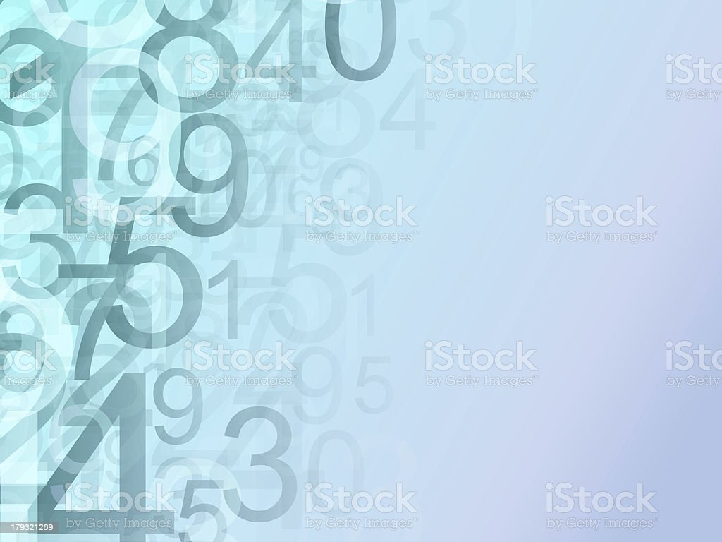 Universe of Numbers stock photo