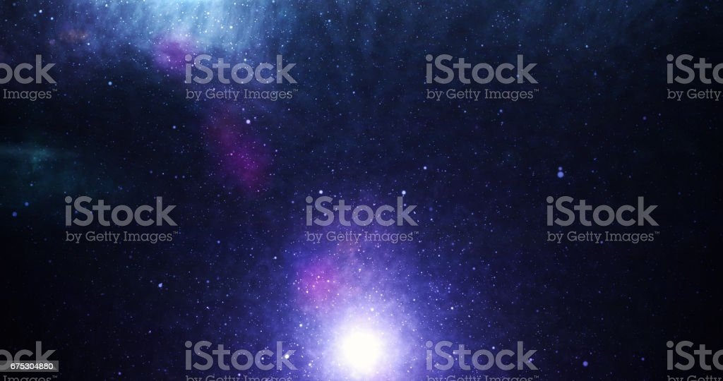 Universe purple stock photo
