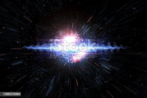 istock Universe Starscape Explosion 3D Illustration 1266325084