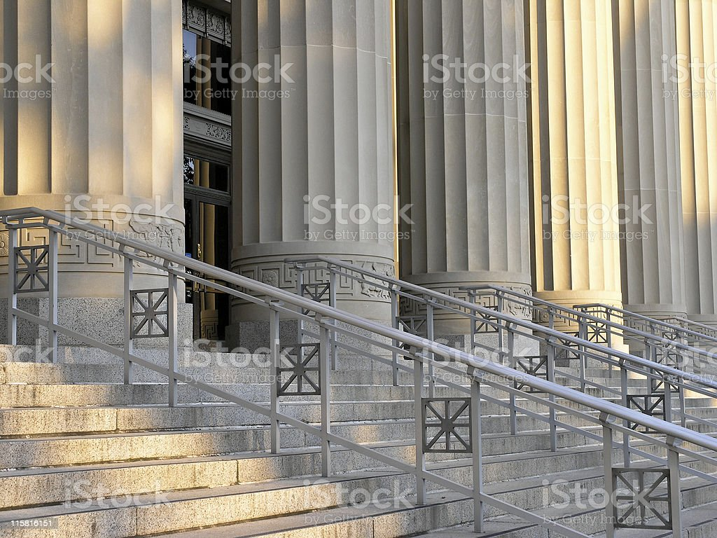 University Building Entrance royalty-free stock photo