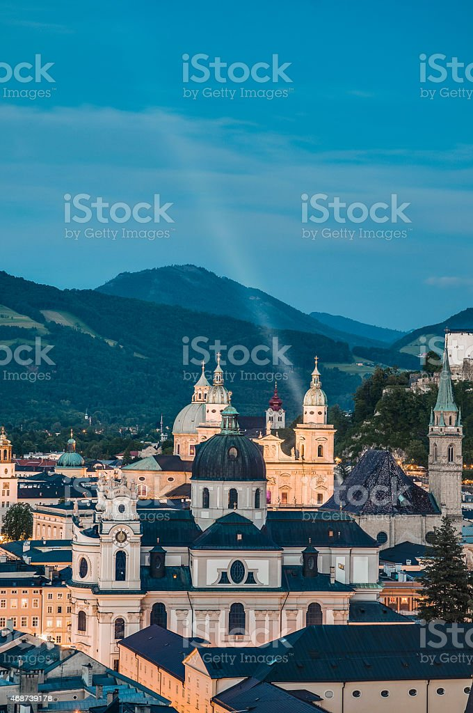 University Church (Kollegienkirche) at Salzburg, Austria stock photo