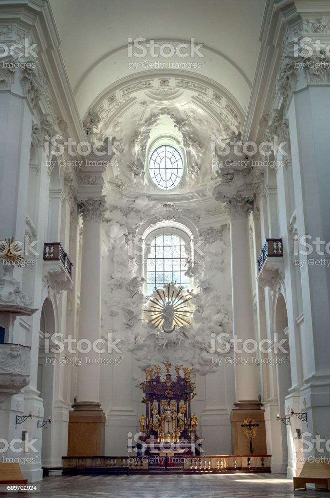 University Church in Salzburg stock photo