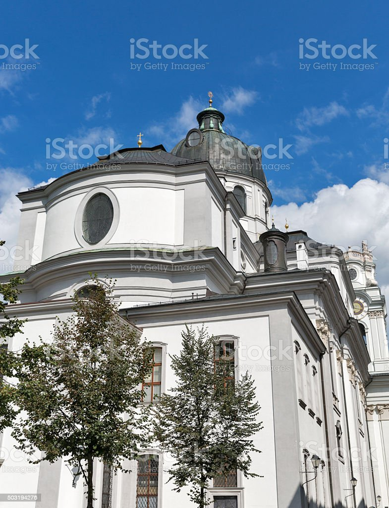 University Church or Kollegienkirche in Salzburg, Austria stock photo