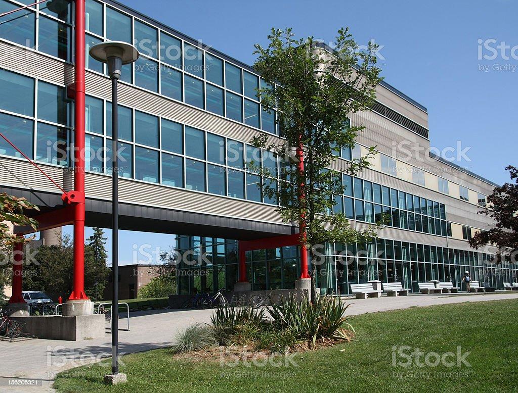 University Computer Science Building stock photo