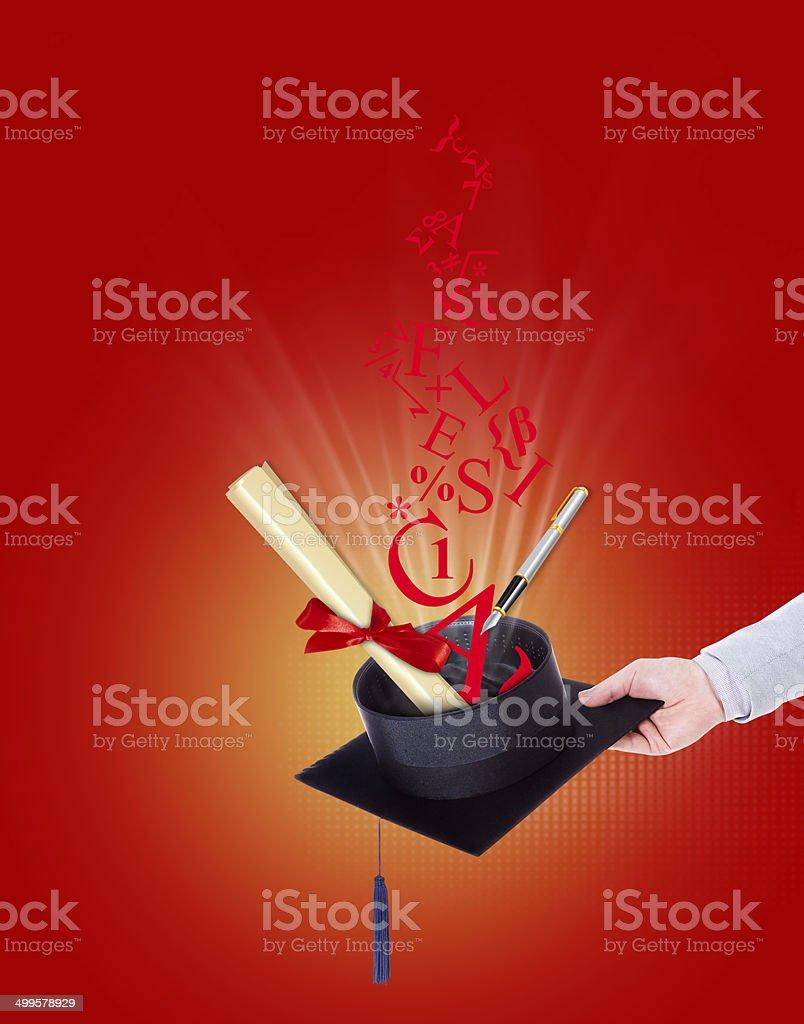 university degree college illustration stock photo