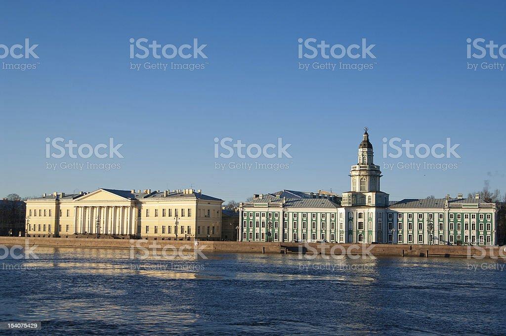 University embankment stock photo