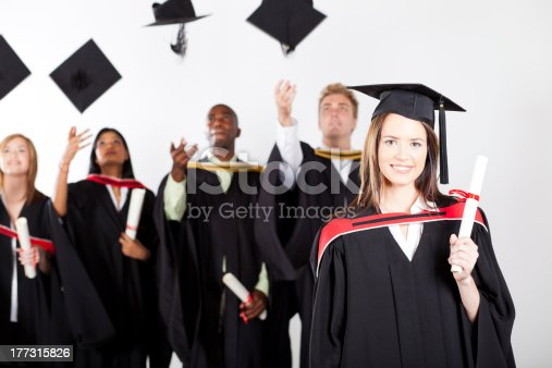 istock university graduate at graduation 177315826