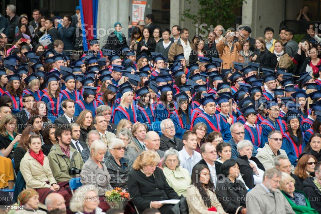 University Graduation Ceremony royalty-free stock photo