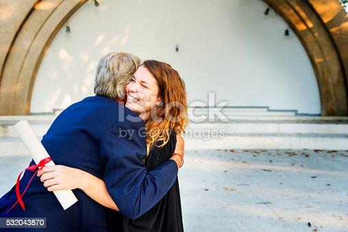 istock University Graduation Certificate Hugging Success Concept 532043870