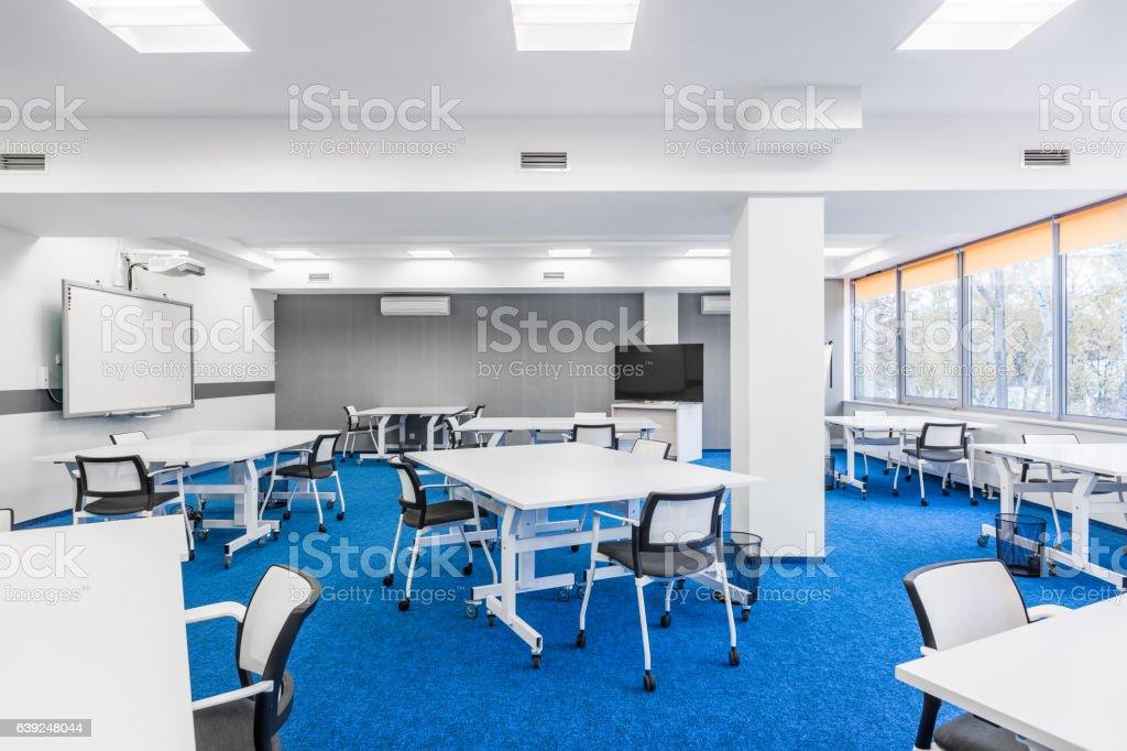 University group study room stock photo