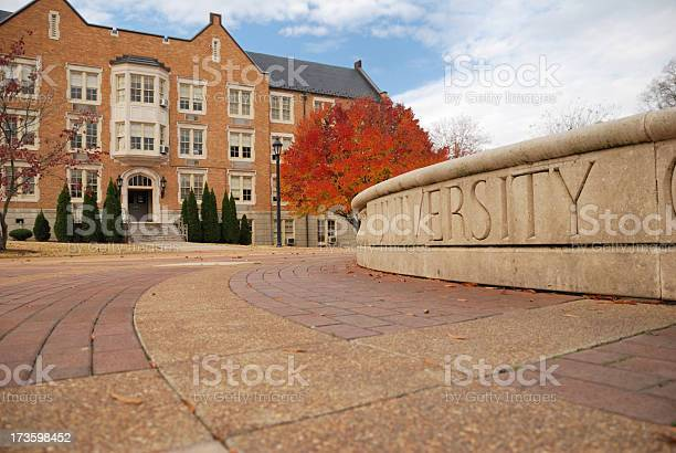 University In Autumn Stock Photo - Download Image Now