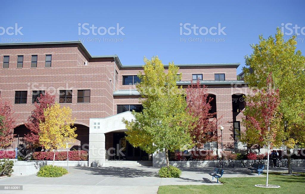 University in Fall stock photo
