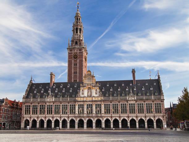 University Library of Leuven stock photo