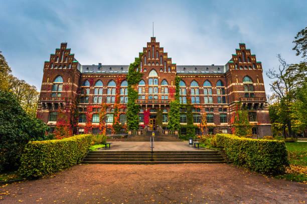 Lund - 21. Oktober 2017: Universitätsbibliothek Lund, Schweden – Foto