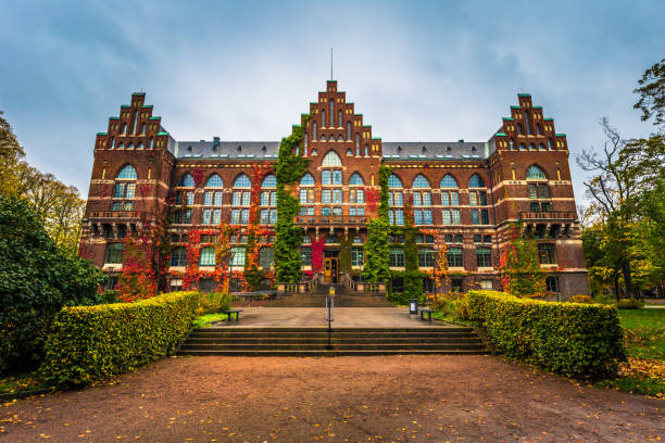 lund - 21 oktober 2017: universitetsbiblioteket i lund, sverige - skåne bildbanksfoton och bilder