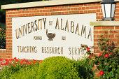 University of Alabama sign