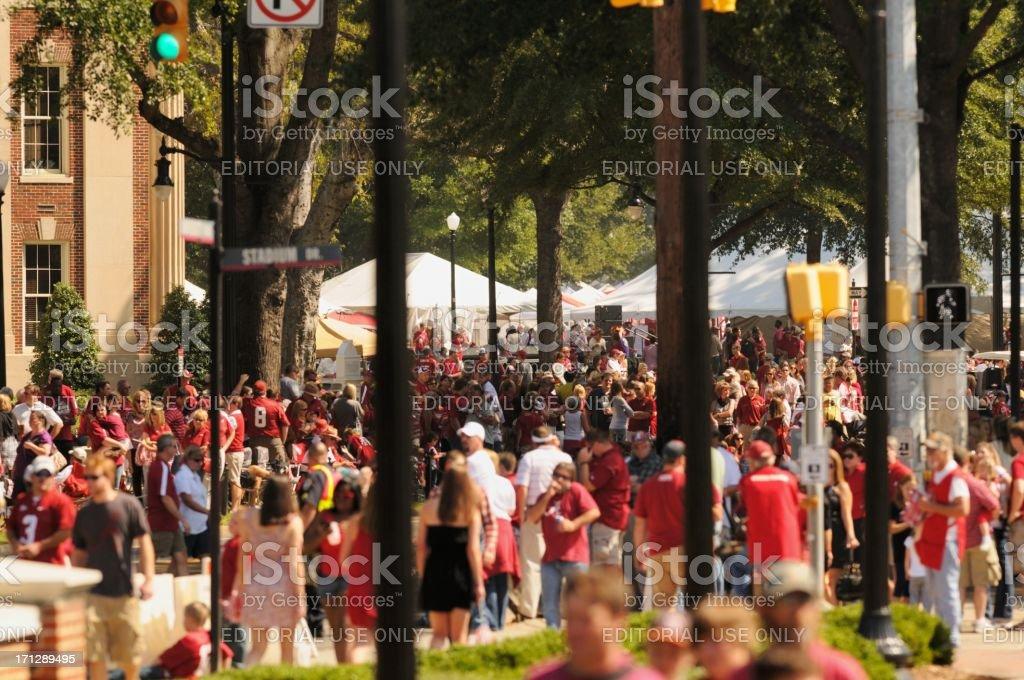 University of Alabama tailgating stock photo