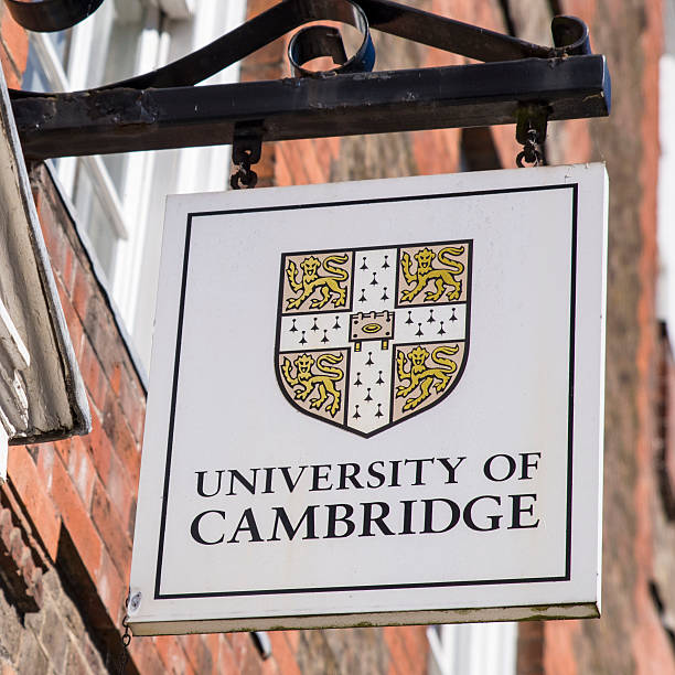 university of cambridge sign - cambridge university stock photos and pictures