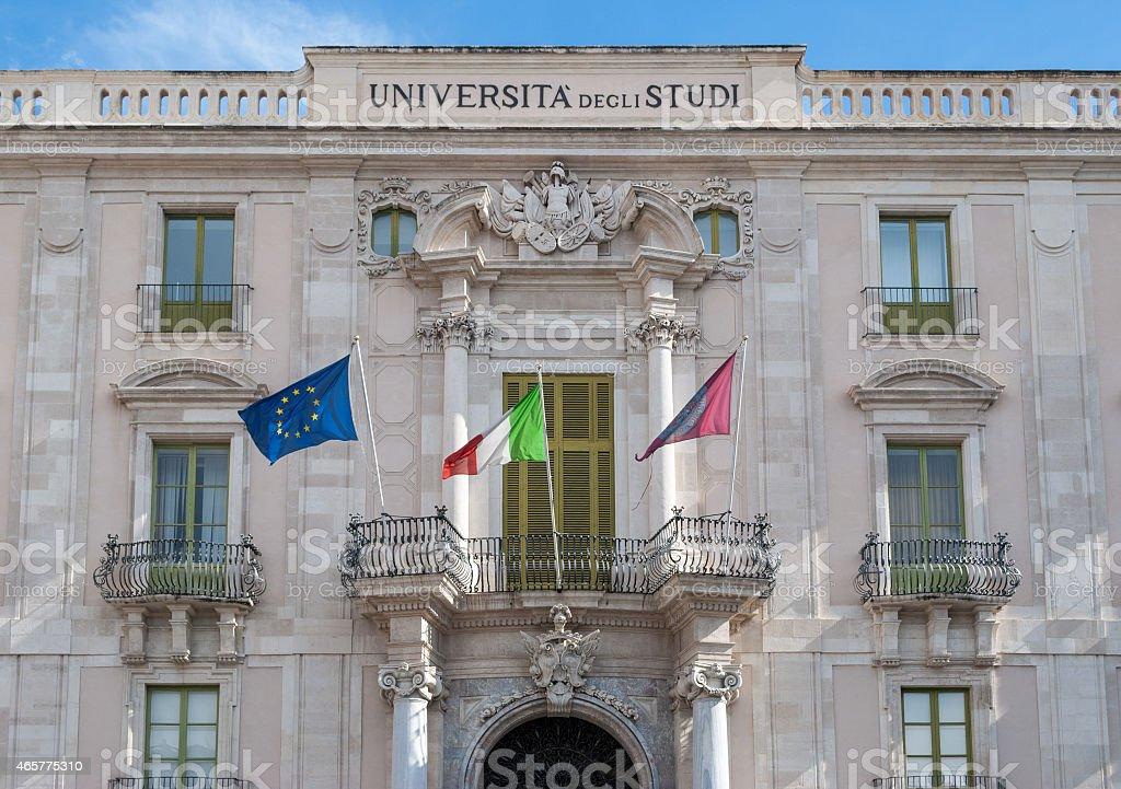 University of Catania - main building stock photo