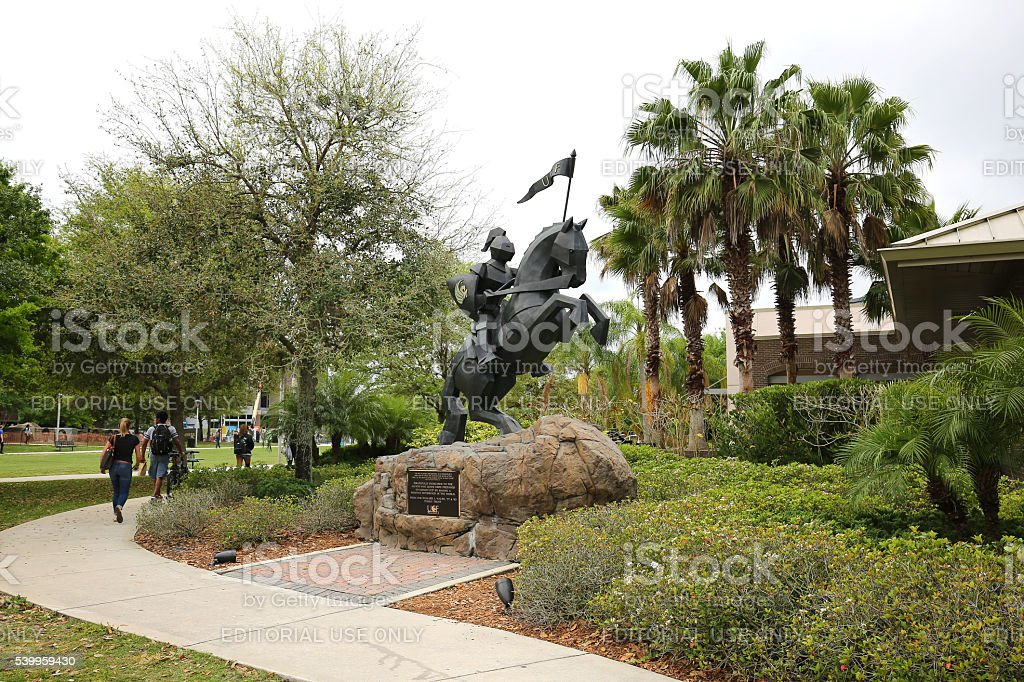 University of Central Florida's Victory Knight statue stock photo