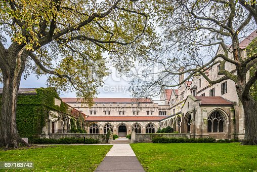Chicago, USA - Oct 29, 2016: The University of Chicago is a private research university in Chicago, IL. It holds top-ten position in numerous national and international rankings and measures.