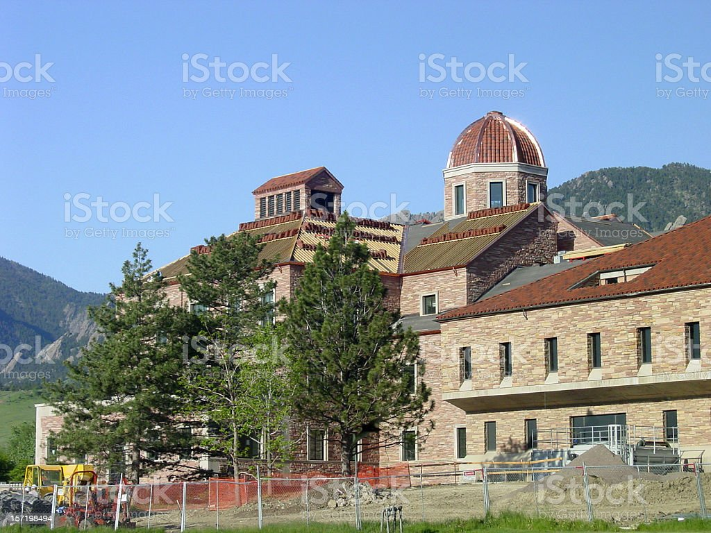 University of Colorado at Boulder royalty-free stock photo