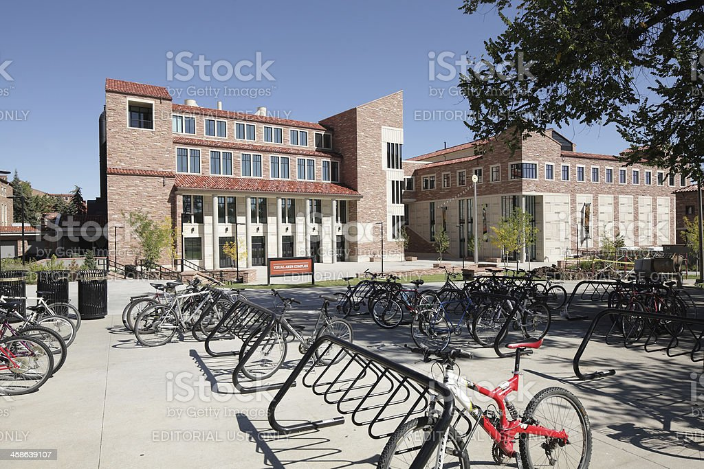 University of Colorado, Boulder campus, Visual Arts Complex stock photo