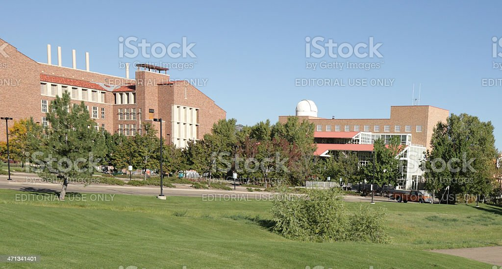 University of Colorado, Boulder, East campus stock photo