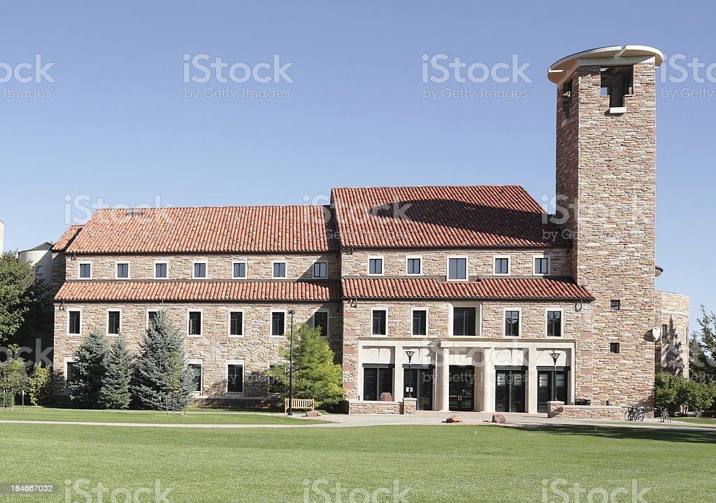 University of Colorado, Boulder, Eaton Humanities Building stock photo
