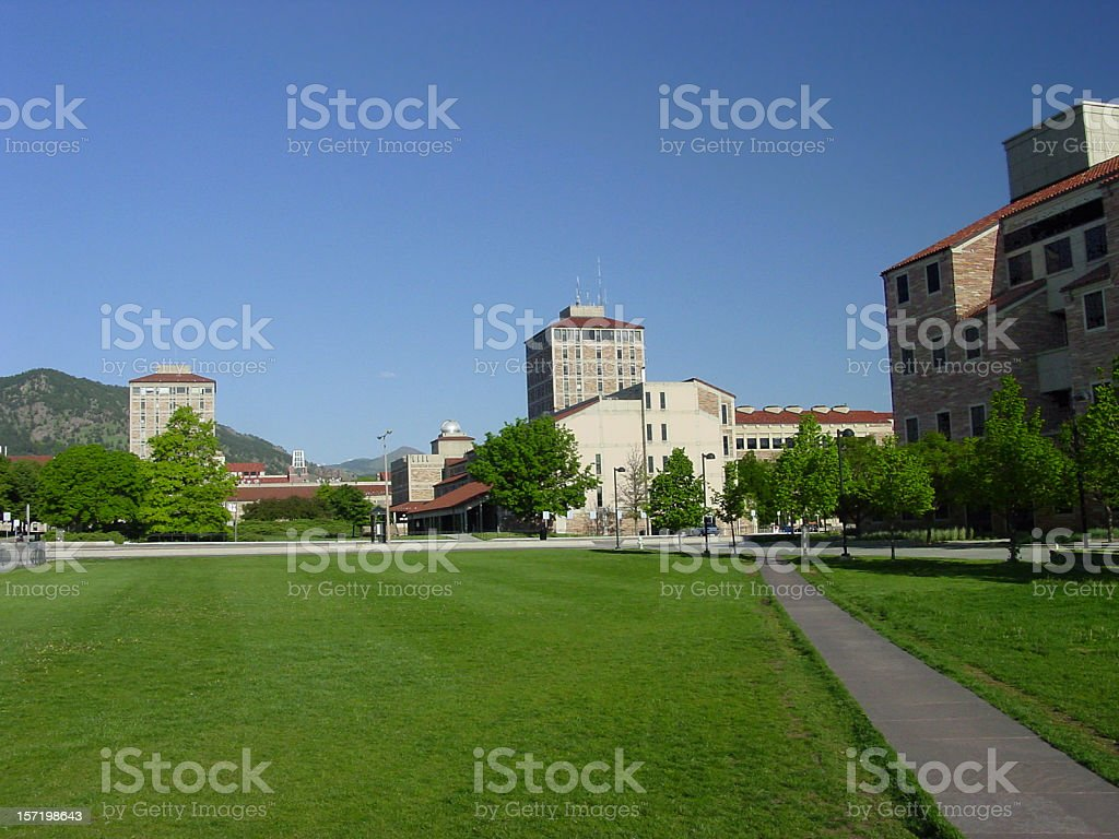 University of Colorado, Boulder. stock photo