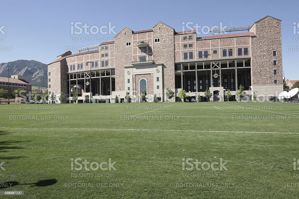 University of Colorado foot ball stadium stock photo