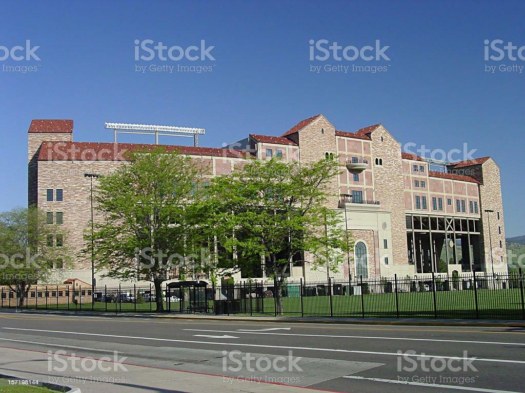 University of Colorado stadium royalty-free stock photo