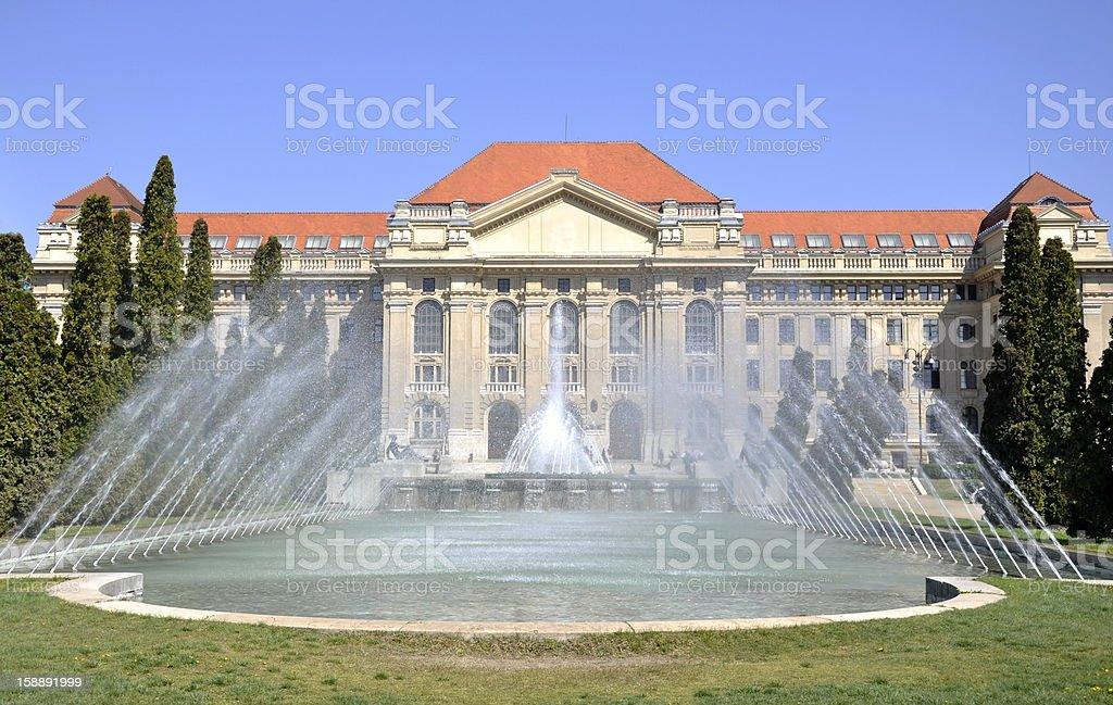 University of Debrecen royalty-free stock photo
