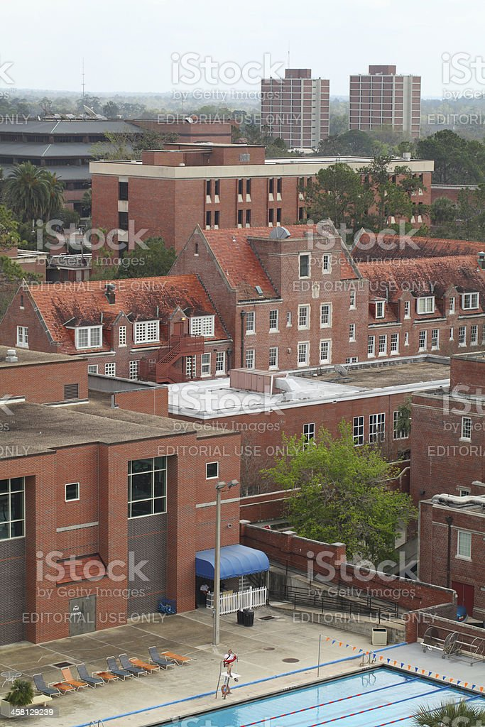 University of Florida from above stock photo