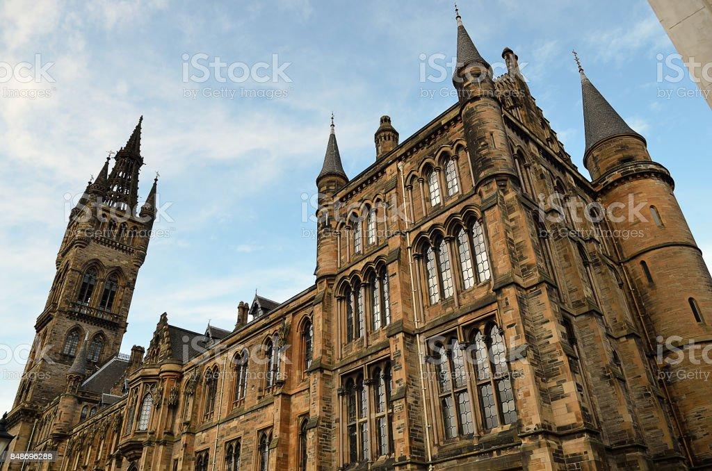 University of Glasgow Main Building - Scotland stock photo