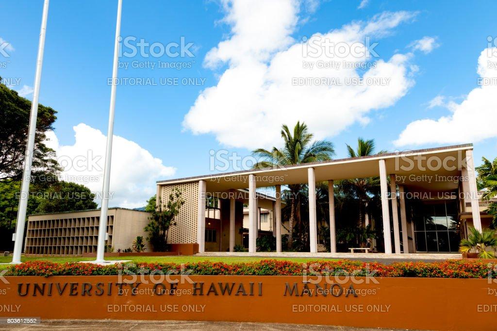 University of Hawaii at Manoa stock photo