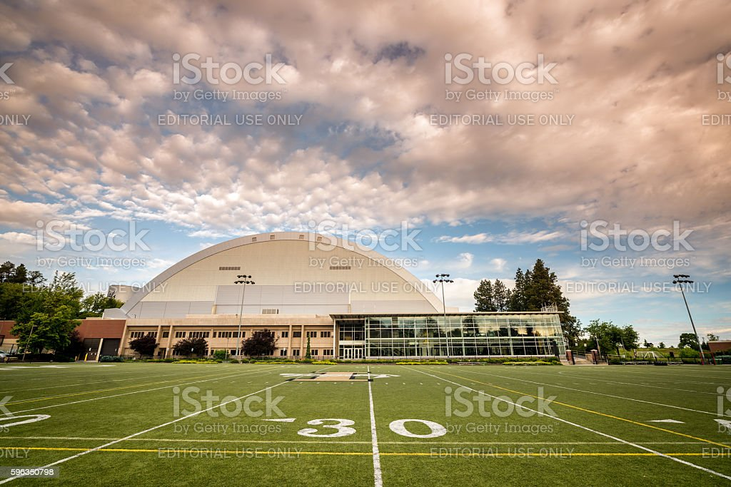 University of Idaho football stadium and practice field royalty-free stock photo