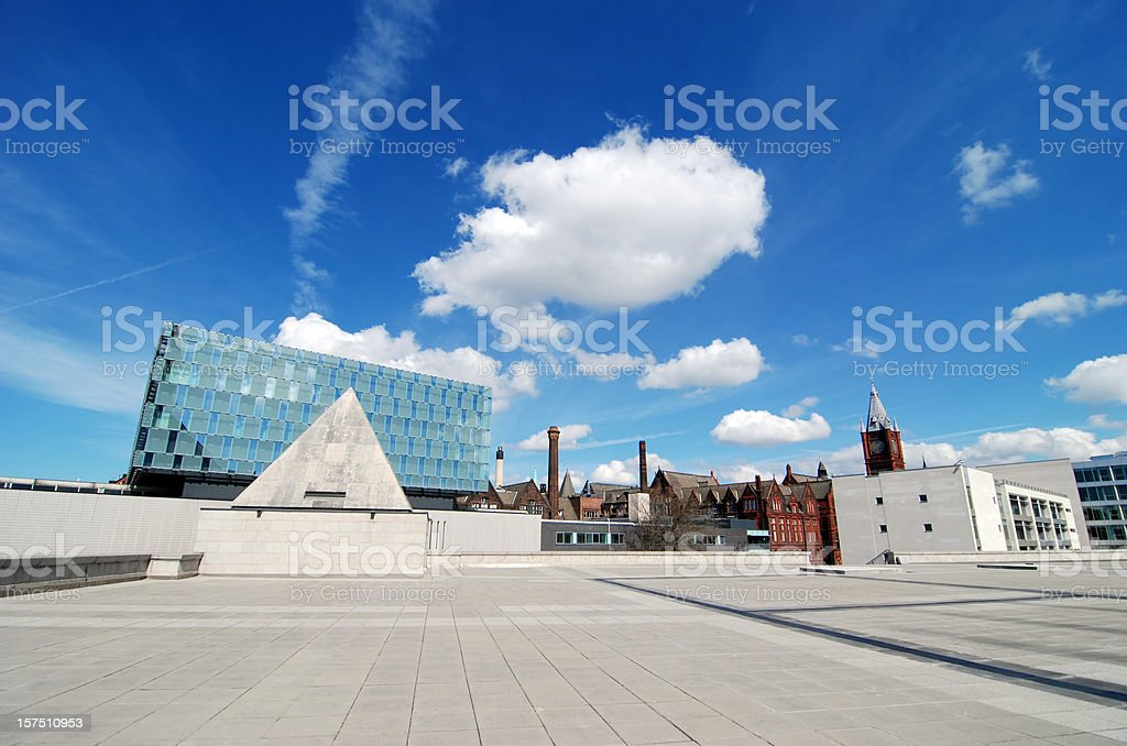 University of Liverpool wide angle buildings royalty-free stock photo
