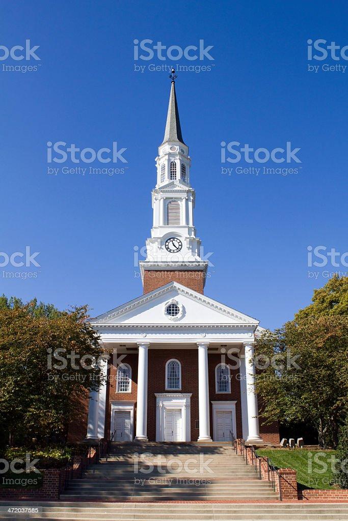 University Of Maryland Chapel stock photo