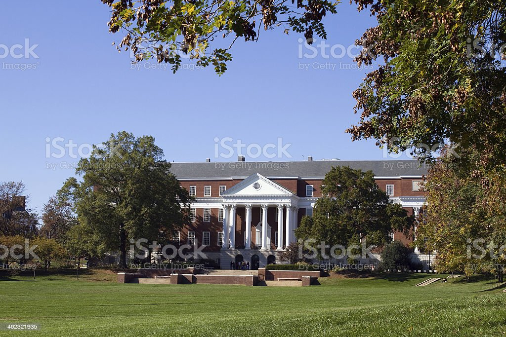 University Of Maryland Library stock photo